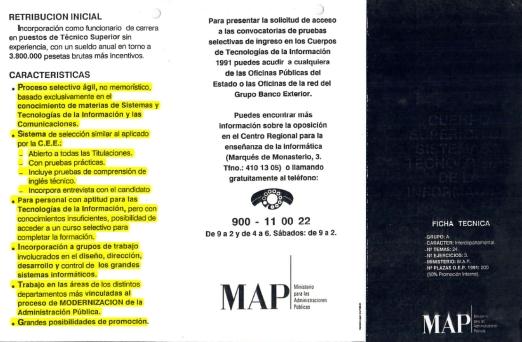 Convocatoria del INAP a la primera oposición al Cuerpo Superior de Sistemas y Tecnologías de la Información